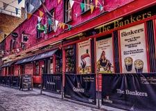 Barra dos banqueiros de Dublin- imagens de stock
