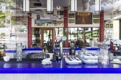 Barra dos restaurantes Foto de Stock Royalty Free