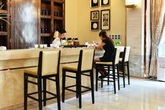 Barra e bistrot del ristorante Immagini Stock Libere da Diritti