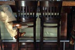 Barra e cadeiras Foto de Stock