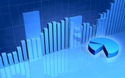 Barra e gráfico de sectores circulares Foto de Stock
