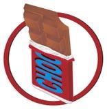 Barra e sinal de chocolate ilustração do vetor