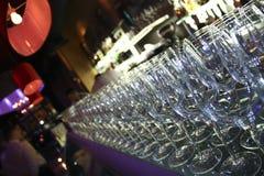 Barra e vidros Foto de Stock
