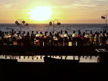 Barra en la playa Puerto Vallarta México fotografía de archivo libre de regalías