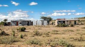 Barra en pueblo del kenia imágenes de archivo libres de regalías