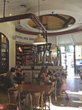 Barra en Tel Aviv, bulevar de Rothshild, Israel de Max Brenner Chocolate Imagenes de archivo