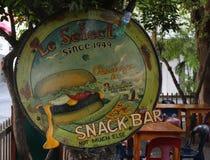 Barra famosa Le Select en el puerto de Gustavia, St Barts fotos de archivo libres de regalías