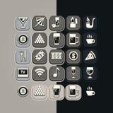 Barra fijada iconos Fotografía de archivo