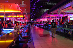 Barra Go-Go sulla via ambulante a Pattaya Fotografie Stock Libere da Diritti