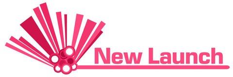 Barra gráfica do rosa novo do lançamento ilustração do vetor