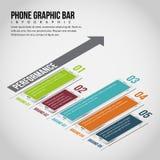 Barra gráfica Infographic del teléfono Foto de archivo libre de regalías