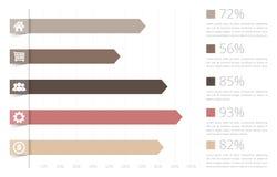 Barra graph Fotos de Stock