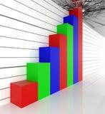 Barra graph Fotografia de Stock
