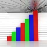 Barra graph Fotografia de Stock Royalty Free