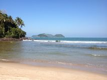 Barra hace la playa de Sahy Foto de archivo libre de regalías