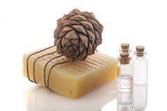 Barra Handmade do sabão Imagem de Stock Royalty Free