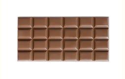 Barra hecha a mano del chocolate con leche de la alta calidad aislada Fotos de archivo libres de regalías