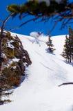 Barra inversa dello Snowboard in Backcountry Immagine Stock Libera da Diritti