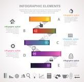 Barra l'opzione infographic Immagini Stock