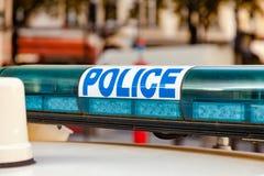 Barra ligera del coche policía francés Imágenes de archivo libres de regalías