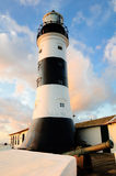 Barra Lighthouse. Santo Antonio Lighthouse, popularly known in Portuguese as Farol da Barra (Barra Lighthouse), one of the most knwon landmarks of Salvador ( stock photography