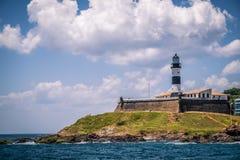 Barra Lighthouse Farol da Barra in Salvador, Bahia Stock Photos