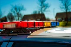 Barra luminosa del volante della polizia Immagine Stock Libera da Diritti
