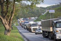 Presidente Dutra Road. Barra Mansa, Brazil - november 29, 2017: Main Presidente Dutra Highway linking the city of São Paulo to Rio de Janeiro near KM 277 with Royalty Free Stock Photos