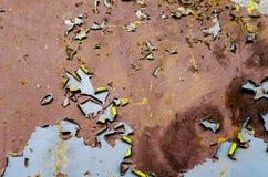 Barra metálica oxidada de la armadura Foto de archivo