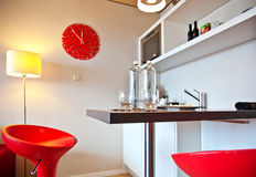Barra na cozinha Imagens de Stock
