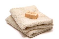 Barra natural do sabão de banho do cuidado de Aromatherapy Marselha imagens de stock royalty free