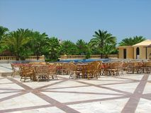Barra nell'hotel tropicale Immagine Stock Libera da Diritti