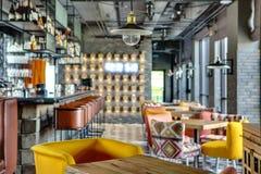 Barra no restaurante mexicano Imagens de Stock