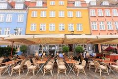 Barra Nyhavn del caffè Fotografia Stock Libera da Diritti