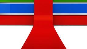 Barra o vermelho, o verde e o azul ilustração stock