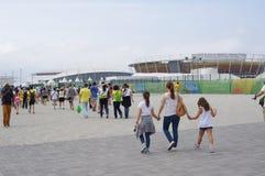 Barra Olympic Park nos Olympics Rio2016 fotografia de stock royalty free