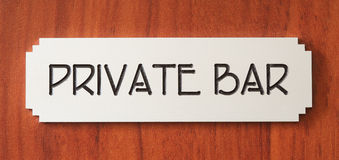 Barra privata Immagine Stock