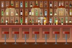 Barra, pub, interior del club nocturno stock de ilustración