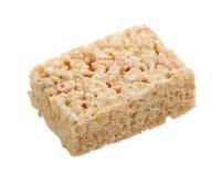 Barra quadrada do Marshmallow no branco Imagem de Stock