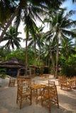 Barra-Restaurante de la playa Fotografía de archivo