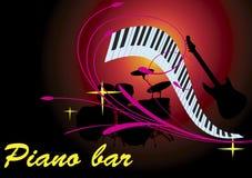 Barra rosada del piano Fotos de archivo libres de regalías