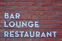 Barra, salón, restaurante Foto de archivo