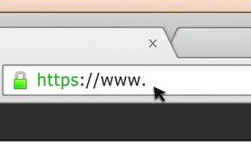 Barra segura do endereço do navegador do Web site Fotos de Stock Royalty Free