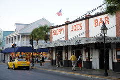 Barra trascurata del Joe in Key West fotografia stock libera da diritti