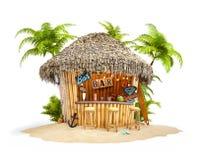Barra tropical de bambu ilustração stock