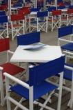Barra, vectores y sillas Foto de archivo libre de regalías