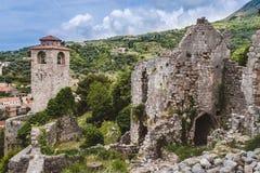 Barra velha cidade arruinada em Montenegro Imagens de Stock Royalty Free