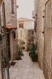 Barra vieja de la ciudad en Montenegro - imagen imágenes de archivo libres de regalías