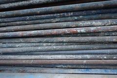 Barra vieja del acero de la construcción Fotografía de archivo