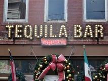 Barra y taqueria, ciudad de Ybor, Tampa, la Florida del Tequila fotos de archivo libres de regalías